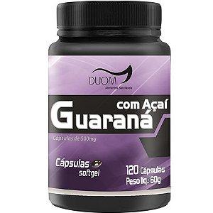 GUARANÁ COM AÇAÍ 120 CÁPSULAS 500MG DUOM