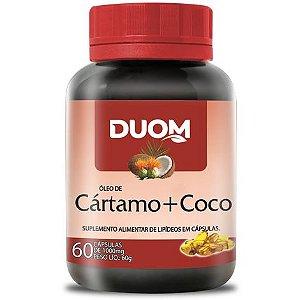 ÓLEO DE COCO + CÁRTAMO 1000MG 60 CÁPSULAS DUOM