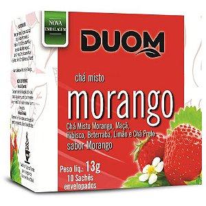 CHÁ MISTO DE MORANGO 12G 10 SACHÊS DUOM