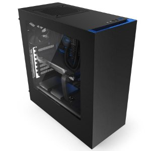 Gabinete NZXT S340 Mid-Tower Blue Edition Lateral em Acrílico CA-S340MB-GB