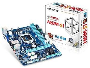 Placa Mãe GigaByte GA-H61M-S1 p/ Intel LGA 1155