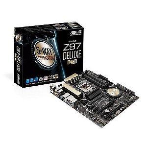 Placa-Mãe ASUS p/ Intel LGA 1150 ATX Z97-Deluxe USB 3.1 4xDDR3 SLI/CFX