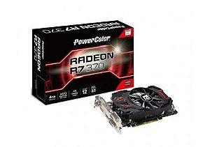 Placa de Video VGA PowerColor Radeon R7 370 4GB DDR5 256 Bits AXR7 370 4GBD5-DHE/OC