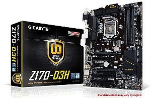 Placa Mãe GIGABYTE GA-Z170-D3H Intel LGA 1151ATX DDR4 CrossFire