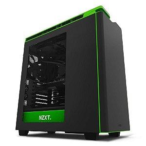 Gabinete NZXT H440 Black/Green Mid Tower USB 3.0 CA-H440W-M3