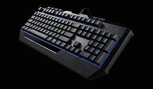 Kit Teclado e Mouse Gamer Coolermaster Devastator II Led Azul SGB-3030-KKMF1-BR I