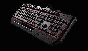 Kit Teclado e Mouse Gamer Coolermaster Devastator II Led Vermelho SGB-3031-KKMF1-BR I