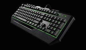 Kit Teclado e Mouse Gamer Coolermaster Devastator II Led Verde SGB-3032-KKMF1-BR I