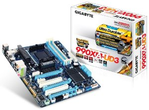Placa mãe Gigabyte GA-990XA-UD3 AM3+ Cros/SLI USB 3.0 SATA 6Gb/s