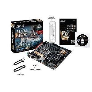 Placa-Mãe ASUS p/ Intel LGA 1151 Z170M-PLUS/BR DDR4 USB 3.0 SATA 6Gb/s
