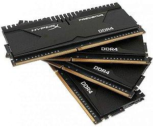 Memória Kingston 16GB (4x4GB) HyperX Predator 2666Mhz DDR4 CL13HX426C13PB2K4/16