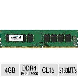 Memória Crucial DDR4 4GB 2133Mhz ECC CL15