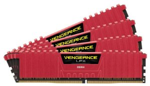 Memória Corsair Vengeance LPX 16GB (4x4GB) 2800MHz DDR4 Red CMK16GX4M4A2800C16R
