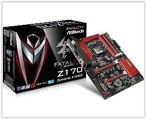 Placa Mãe AsRock Fatal1ty Z170 Gaming K4/D3 DDR3 LGA 1151 CrossFireX USB 3.0