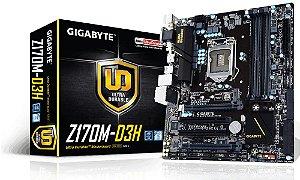 Placa mãe Gigabyte GA-Z170M-D3H DDR4 CHIPSET Z170 CrossFire™ LGA 1151