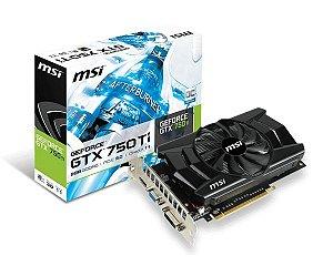 Placa de vídeo MSI NVIDIA GeForce GTX 750Ti GDDR5 128 bits N750 TI-2GD5/OC