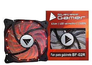 Fan Ventoinha BlueCase 120mm LED Vermelho BF-02R