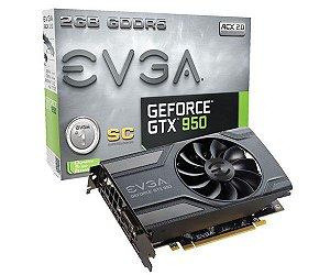 Placa de Vídeo Evga VGA GeForce GTX 950 Acx 2.0 2gb GDDR5 128BIT 02G-P4-2951-KR