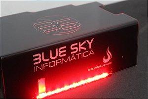 Psu Cover Rise Scorpion Fire Red Led Casemod Blue Sky RM-CP-02-FIRE