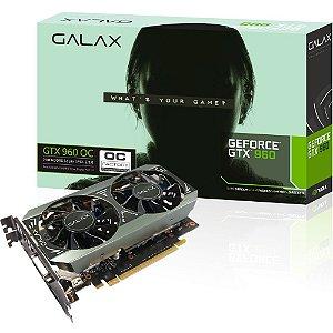 Placa de Video VGA Galax Geforce GTX 960 OC 2GB GDDR5 128 bit PCI Express 3.0 DVI/HDMI 96NPH8DND8VZ