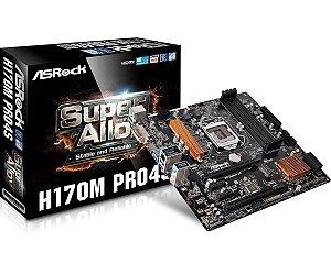 Placa-Mãe ASRock Intel LGA 1151 mATX H170M Pro4S DDR4