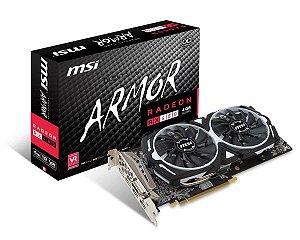 Placa de Vídeo MSI RADEON RX 480 ARMOR 4G OC GDDR5 256Bit
