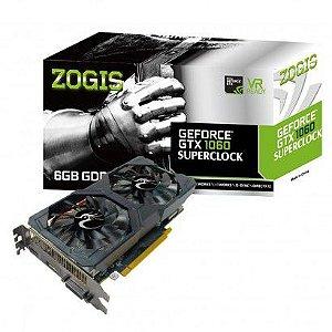 Placa de Vídeo Zogis GeForce GTX 1060 6GB ZO1060-6GD5SC