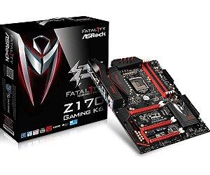 Placa-Mãe ASRock p/ Intel LGA 1151 ATX Fatal1ty Z170 Gaming K6