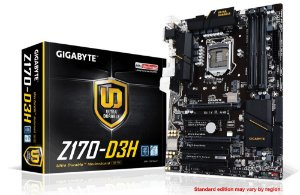 Placa mãe Gigabyte GA-Z170-D3H DDR4 USB 3.0 Chipset Z170 LGA 1151
