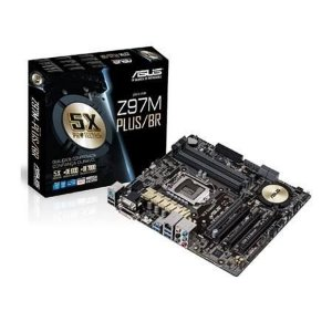 Placa-mãe Asus P/ Intel Lga 1150 Z97m-plus/br Crossfire