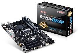 Placa-mãe Gigabyte AM3+ GA-970A-DS3P 2 Way CrossFire SATA 6Gb/s