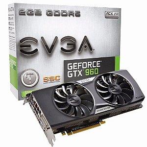 Placa De Video Evga Geforce Gtx 960 2GB GDDR5 128BIT 02G-P4-2966-KR