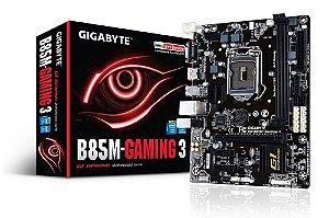 Placa-mãe Gigabyte GA-B85M-GAMING 3 LGA 1150 HDMI VGA
