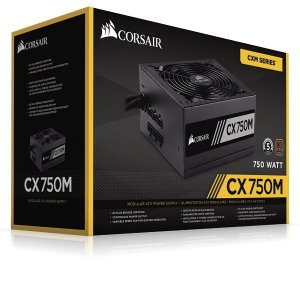 Fonte Corsair CX750M 750W Modular 80 Plus Bronze CP-9020061-WW