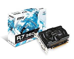 Placa de vídeo VGA MSI Radeon R7 360 2GB OC GDDR5 C/HDMI PCI-EXP