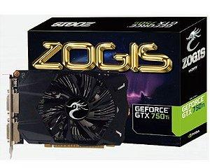 Placa de Vídeo VGA GTX 750 Ti Zogis GeForce 2GB DDR5 128 Bits