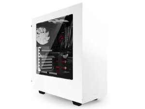 Gabinete NZXT  S340 Branco Lateral Acrílico Mid-Tower CA-S340W-W1