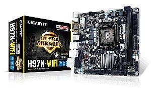 Placa Mãe GIGABYTE GA-H97N-WIFI LGA 1150 MINI ITX Wireles