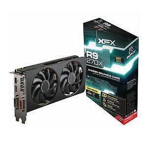 Placa de Vídeo VGA XFX Radeon R9 270X 2GB DDR5 256 Bits R9-270X-CDJ4
