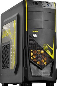 Gabinete PcYes Java Mid Tower  Amarelo S/ Fonte