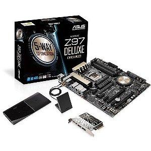 Placa mãe Asus Z97-Deluxe LGA 1150 Chipset Z97 Wi-Fi AC SLI/CFX