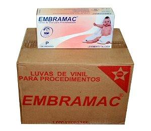 Luva de Vinil Embramac Com talco - Caixa 1000 unidades