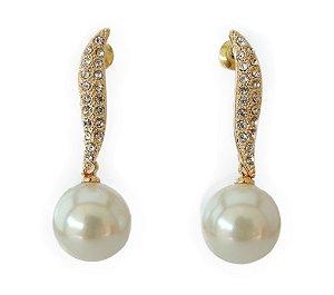 125df1c7252 Brinco Dior Inspired banhado em ouro 18k - Você Vaidosa Acessórios ...