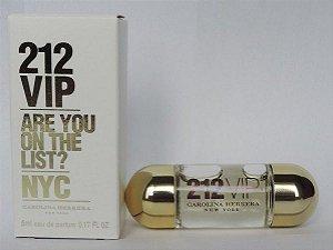 Miniatura 212 Vip Carolina Herrera Eau de Parfum - Perfume feminino 5ml