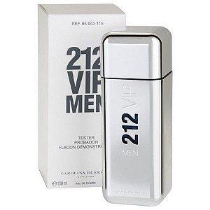 Téster 212 VIP Men Carolina Herrera Eau de Toilette - Perfume Masculino 100 ML