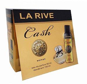 Kit La Rive Cash Woman Eau de Parfum 90 ml  + Desodorante 150 ml