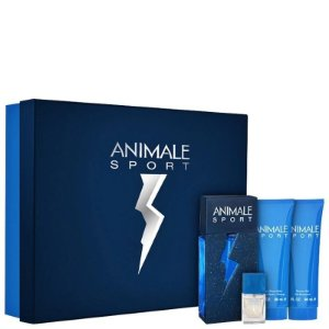 Kit Animale Sport Eau de Toilette Masculino 100ml +  Bálsamo Pós Barba 90ml + Gel de Banho 90ml