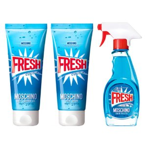 Kit Fresh Moschino Eau de Toilette 50ml + Gel de Banho 100ml + Loção Corporal 100ml