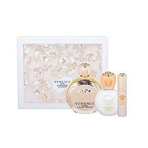 Kit Versace Eros Pour Femme Eau de Parfum 100 ml + Body Lotion 100 ml + Spray 10 ml - Perfume Feminino