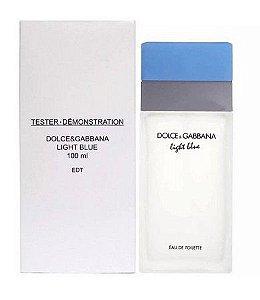 Tester Light Blue Dolce & Gabbana  Eau de Toilette - Perfume Feminino 100 ML